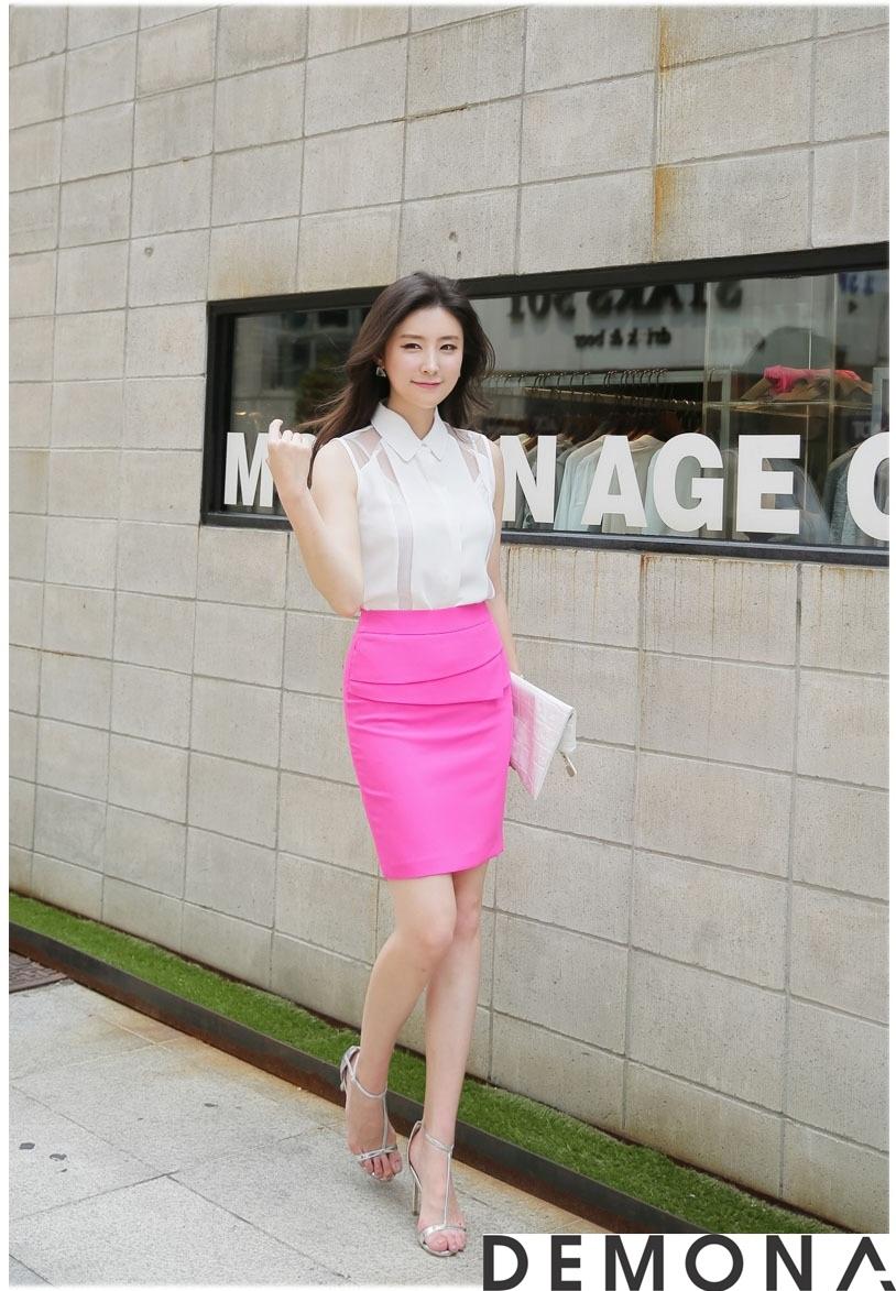 12+ Chân váy đẹp màu hồng hè 2019 cho bạn gái bụng bự phần 1