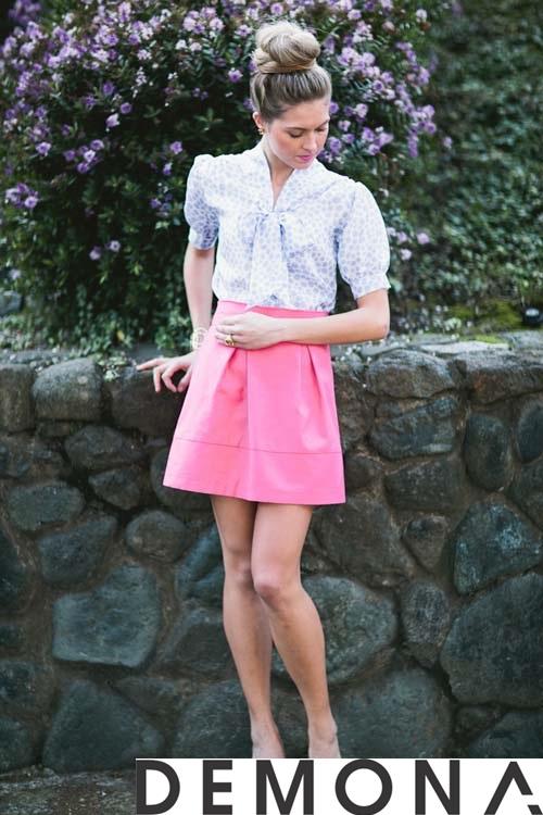 12+ Chân váy đẹp màu hồng hè 2019 cho bạn gái bụng bự phần 14