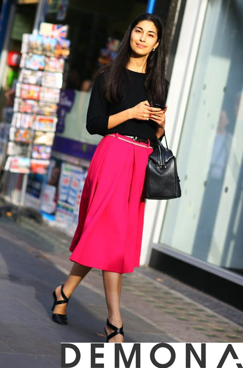 12+ Chân váy đẹp màu hồng hè 2019 cho bạn gái bụng bự phần 17