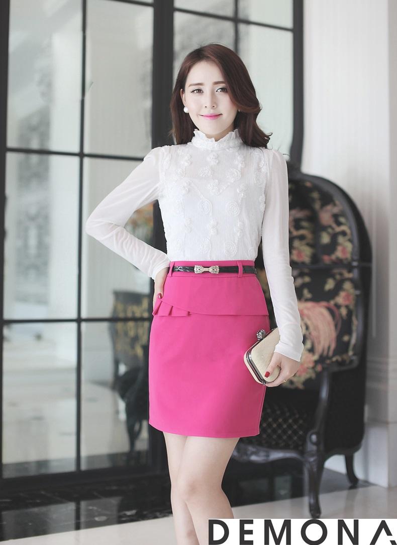 12+ Chân váy đẹp màu hồng hè 2019 cho bạn gái bụng bự phần 2