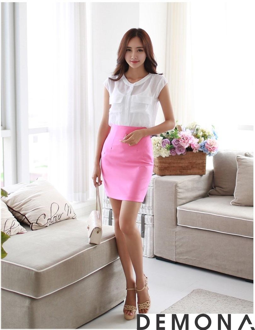 12+ Chân váy đẹp màu hồng hè 2019 cho bạn gái bụng bự phần 3