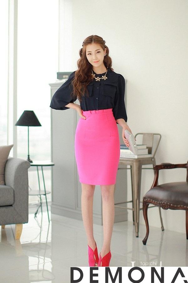 12+ Chân váy đẹp màu hồng hè 2019 cho bạn gái bụng bự phần 4