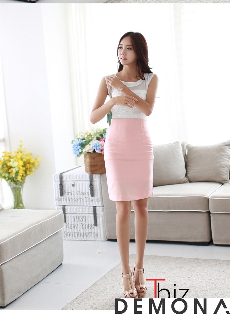 12+ Chân váy đẹp màu hồng hè 2019 cho bạn gái bụng bự phần 7