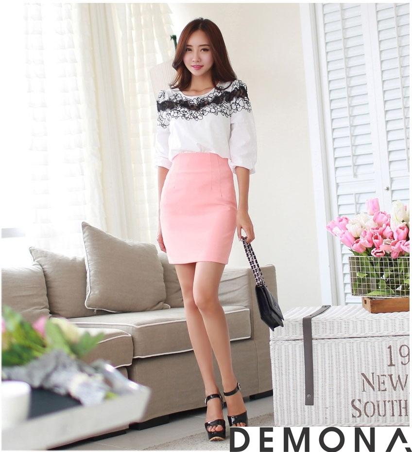 12+ Chân váy đẹp màu hồng hè 2019 cho bạn gái bụng bự phần 9