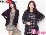 12 kiểu áo khoác len nữ Hàn Quốc đẹp dịu dàng thu đông 2021 – 2022