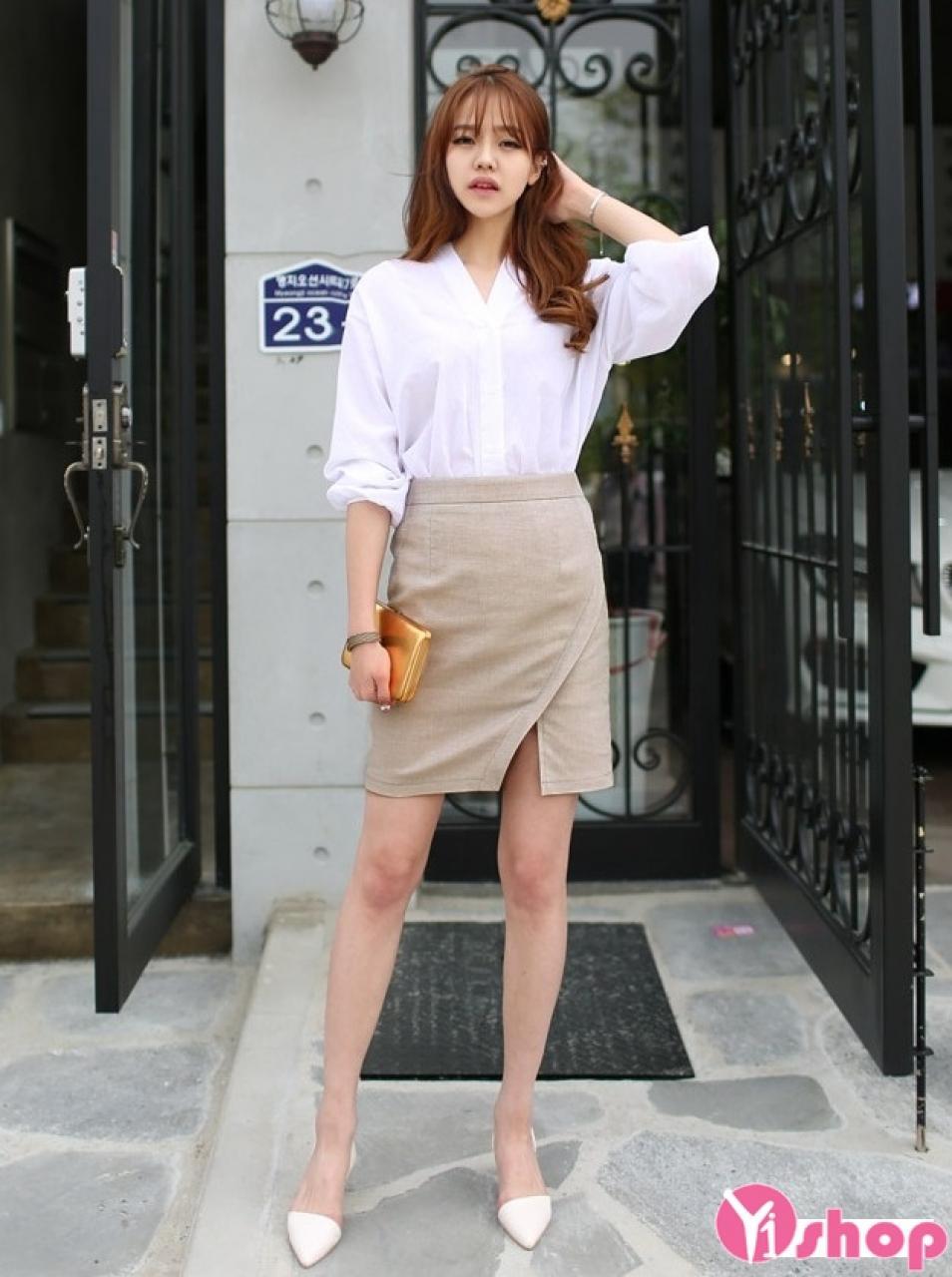 12 Kiểu áo sơ mi nữ trắng đẹp hè 2021 - 2022 phù hợp mọi vóc dáng bạn gái