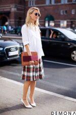 12 kiểu chân váy đẹp kẻ caro cho bạn gái dạo phố hè 2021 – 2022