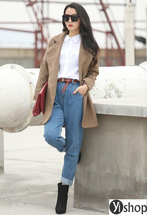 15 kiểu áo khoác nữ dáng suông đẹp cho nàng béo bụng thu đông 2019