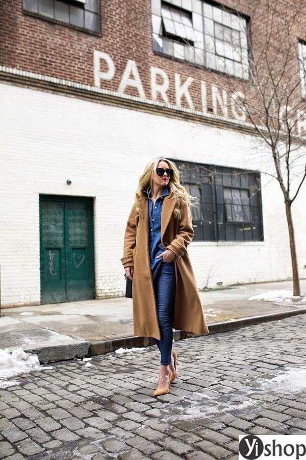 15 kiểu áo khoác nữ màu camel đẹp thu đông 2021 - 2022 cho nàng dạo phố phần 12