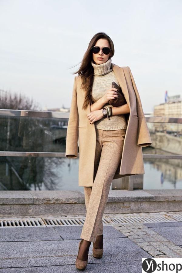 15 kiểu áo khoác nữ màu camel đẹp thu đông 2021 - 2022 cho nàng dạo phố phần 13