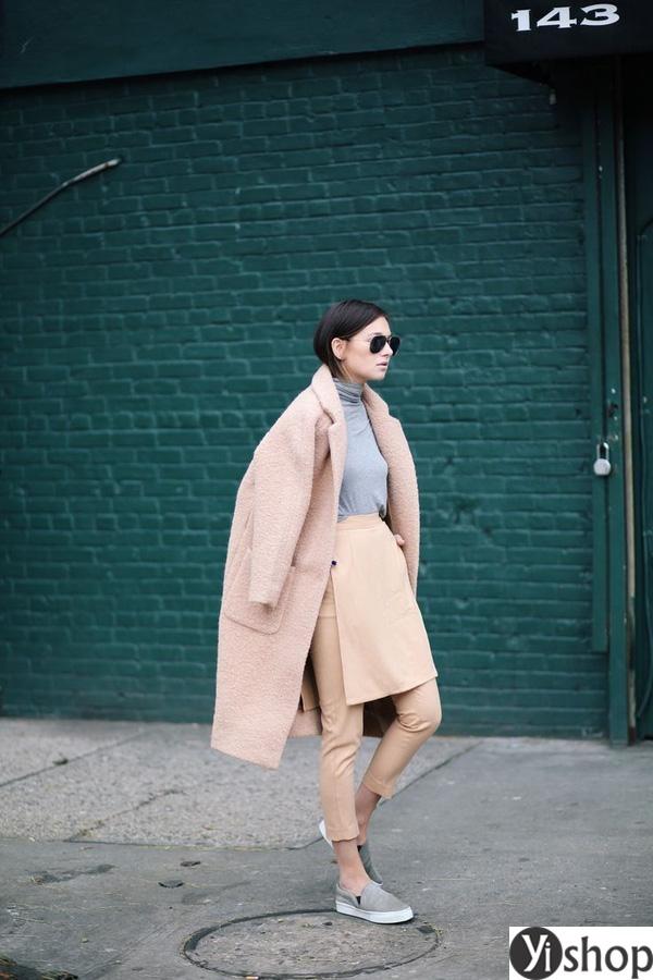 15 kiểu áo khoác nữ màu camel đẹp thu đông 2021 - 2022 cho nàng dạo phố phần 15