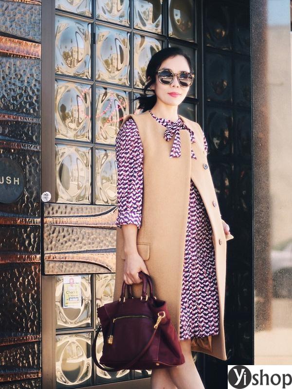 15 kiểu áo khoác nữ màu camel đẹp thu đông 2021 - 2022 cho nàng dạo phố phần 2