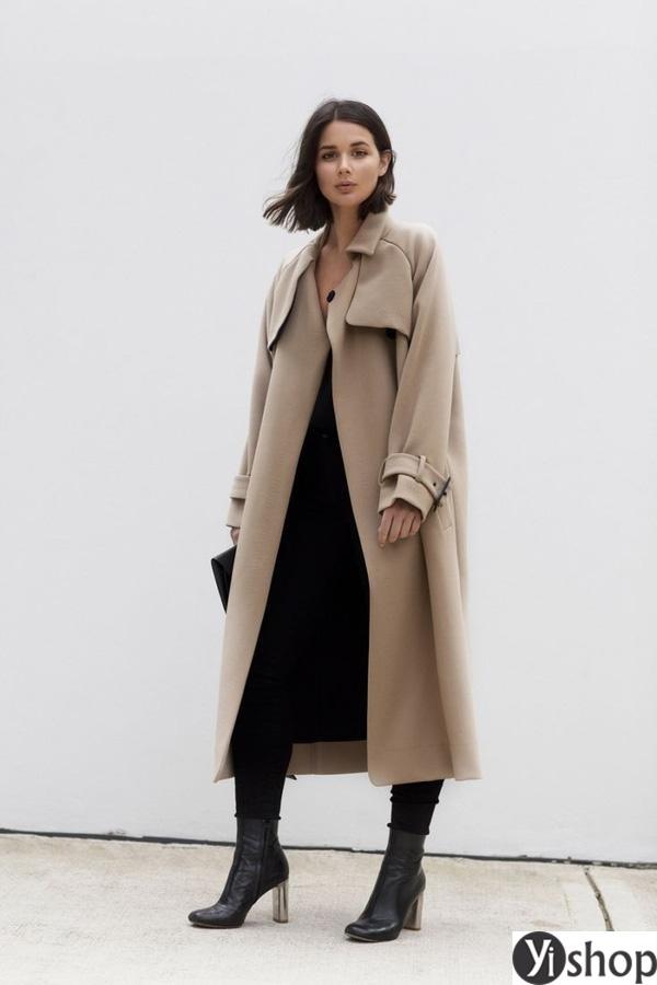 15 kiểu áo khoác nữ màu camel đẹp thu đông 2021 - 2022 cho nàng dạo phố phần 8