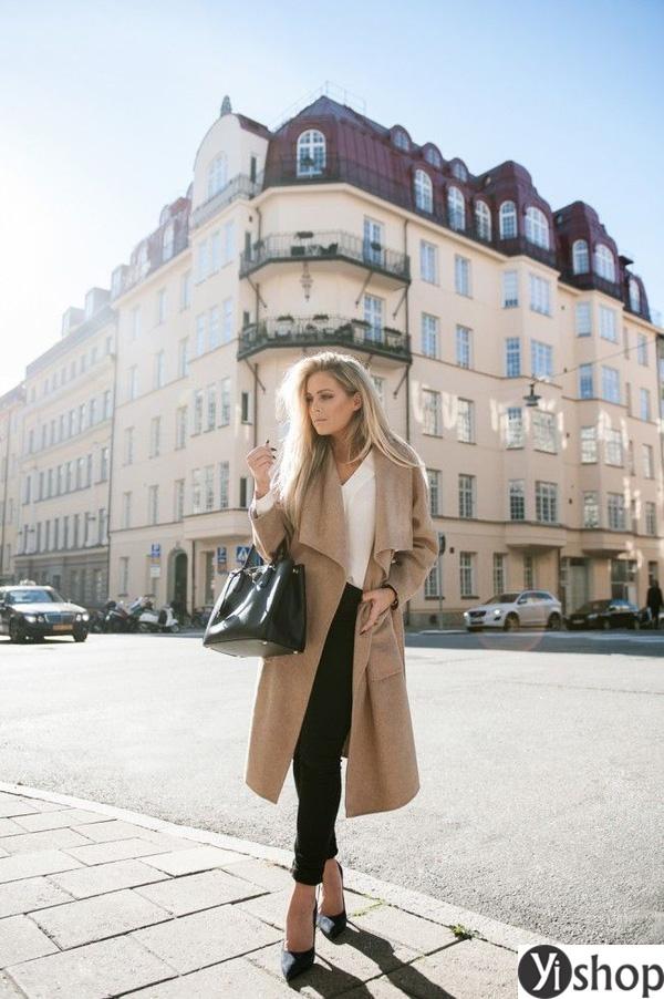 15 kiểu áo khoác nữ màu camel đẹp thu đông 2021 - 2022 cho nàng dạo phố phần 9