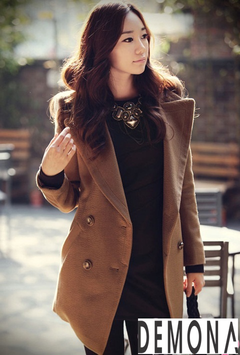 20 Kiểu áo khoác dạ nữ hàn quốc đẹp thời trang thu đông 2019 – 2021 phần 1