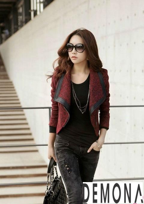 20 Kiểu áo khoác dạ nữ hàn quốc đẹp thời trang thu đông 2019 – 2021 phần 10