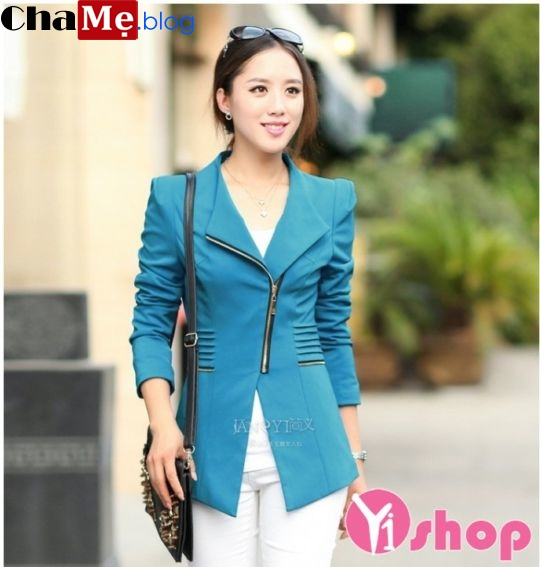 3 kiểu áo khoác blazer nữ đẹp form dáng Hàn Quốc đông 2021 - 2022