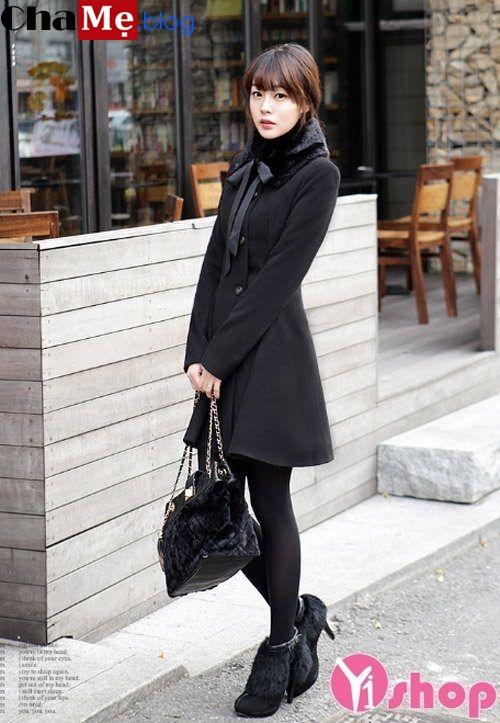 3 kiểu áo khoác dạ nữ dáng xòe đẹp đông 2021 - 2022 ấm áp dịu dàng