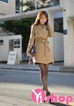 3 Kiểu áo khoác măng tô nữ công sở đẹp thu đông 2021 – 2022 ấm áp không lạnh