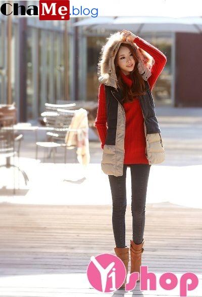 3 kiểu áo khoác phao nữ Hàn Quốc đẹp đông 2021 - 2022 sành điệu