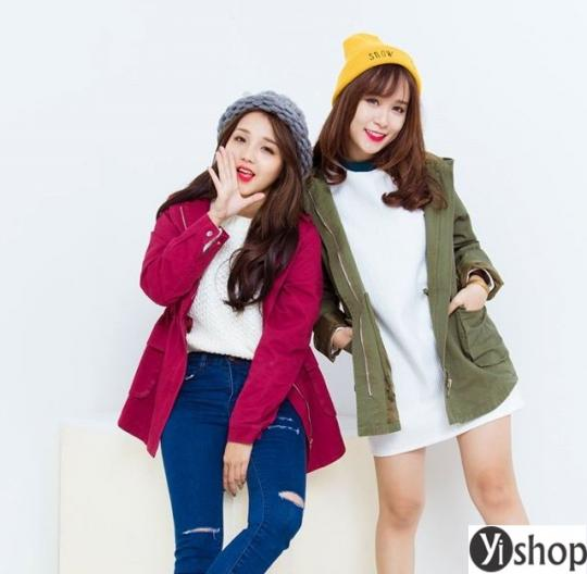 4 kiểu áo khoác nữ Hàn Quốc đẹp được ưa chuộng nhất thu đông 2021 - 2022