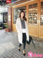 4 kiểu mix áo khoác dạ nữ dáng dài đẹp kiểu Hàn Quốc hoàn hảo đông 2021 – 2022