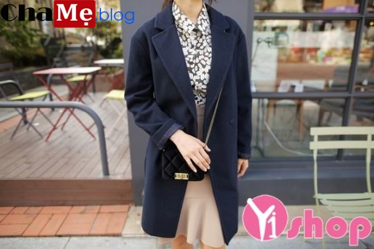 4 kiểu mix áo khoác dạ nữ dáng dài đẹp kiểu Hàn Quốc hoàn hảo đông 2021 - 2022