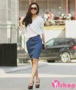 5 kiểu chân váy đầm Hàn Quốc đẹp cho nàng công sở xinh xắn xuân – hè 2021 – 2022