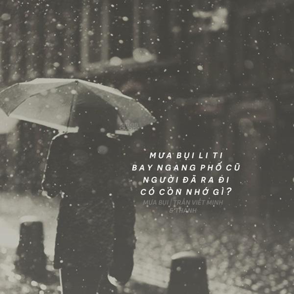 Stt hay về trời mưa tâm trạng buồn vui mang cảm giác cô đơn trống trải