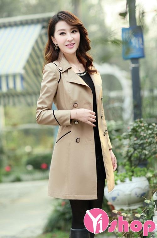 60+ Áo khoác kaki nữ dài đẹp thời trang công sở sang trọng thu đông 2021 - 2022