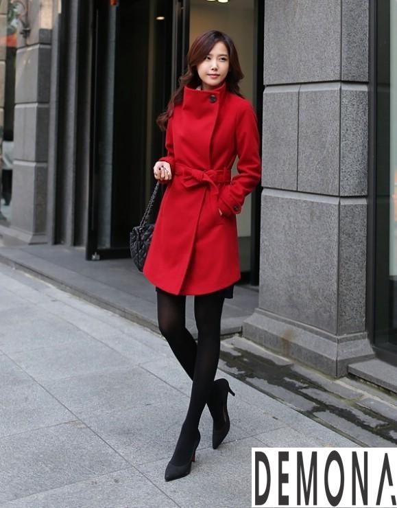 9 Kiểu áo khoác dạ nữ cổ cao đẹp công sở ấm áp thu đông 2019 – 2021 phần 1