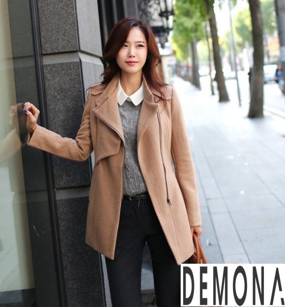 9 Kiểu áo khoác dạ nữ cổ cao đẹp công sở ấm áp thu đông 2019 – 2021 phần 11