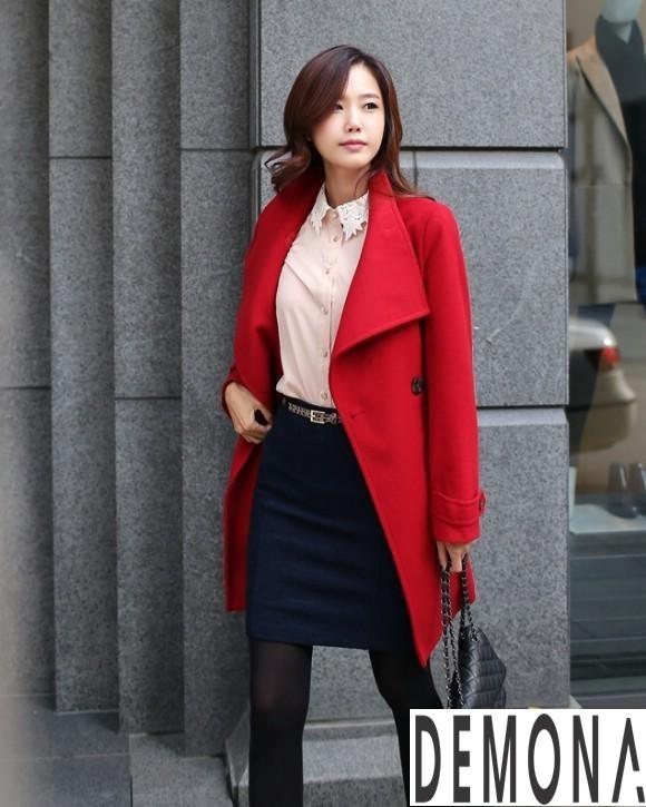9 Kiểu áo khoác dạ nữ cổ cao đẹp công sở ấm áp thu đông 2019 – 2021 phần 3