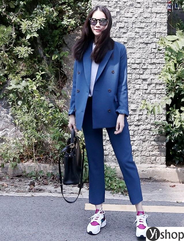 Áo khoác blazer dạ nữ đẹp kiểu hàn quốc công sở hot nhất thu đông 2021 - 2022 phần 10