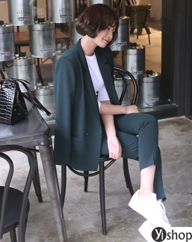 Áo khoác blazer dạ nữ đẹp kiểu hàn quốc công sở hot nhất thu đông 2021 - 2022 phần 14