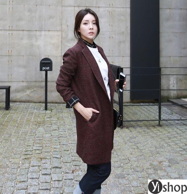 Áo khoác blazer dạ nữ đẹp kiểu hàn quốc công sở hot nhất thu đông 2021 - 2022 phần 5