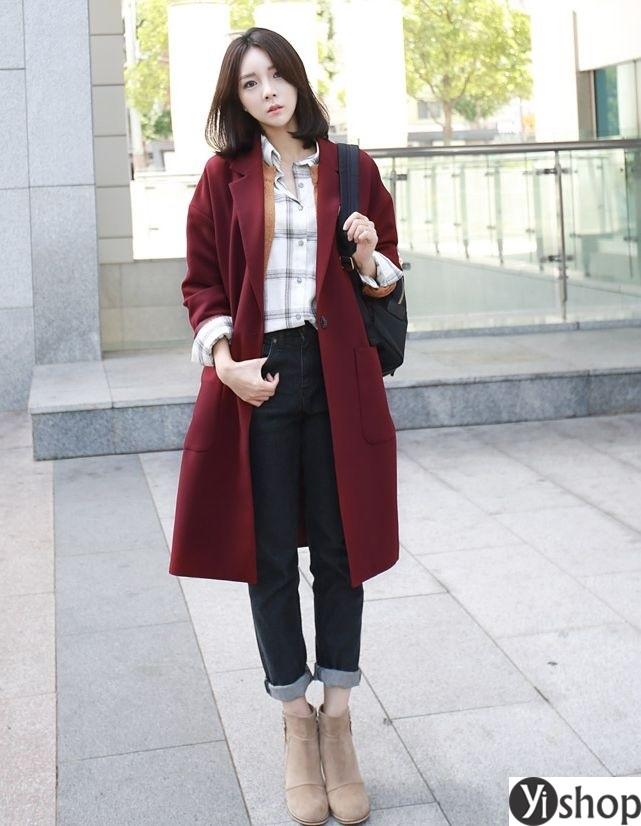 Áo khoác blazer dạ nữ đẹp kiểu hàn quốc công sở hot nhất thu đông 2021 - 2022 phần 7