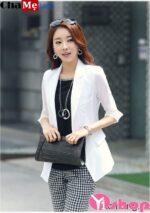 Áo khoác blazer nữ công sở Hàn Quốc đẹp dịu dàng đông 2021 – 2022