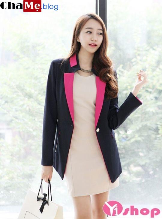 Áo khoác blazer nữ dáng ngắn đẹp cuốn hút tới công sở đông 2021 - 2022