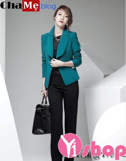 Áo khoác blazer nữ đẹp đông 2021 - 2022 kiểu Hàn Quốc thanh lịch