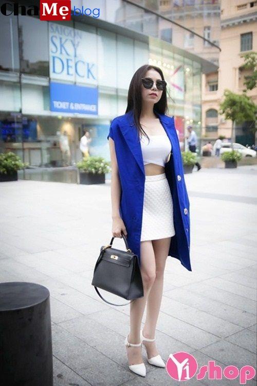 Áo khoác blazer nữ không tay đẹp phá cách như sao việt đông 2021 - 2022