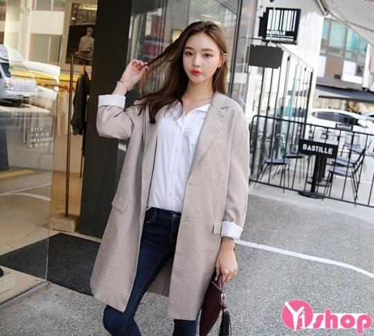 Áo khoác blazer nữ kiểu mới đẹp cho nàng công sở thanh lịch thu đông 2019