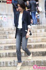 Áo khoác blazer nữ màu đen đẹp công sở thu đông 2021 – 2022