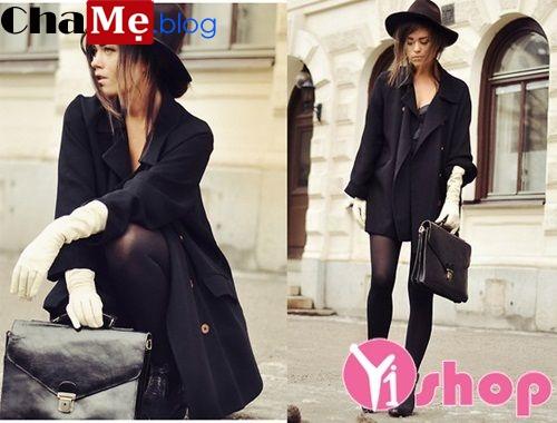 Áo khoác blazer nữ màu đen đẹp công sở thu đông 2021 - 2022