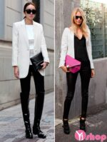Áo khoác blazer nữ trắng đẹp nổi bật thu đông 2021 – 2022 cho nàng dạo phố