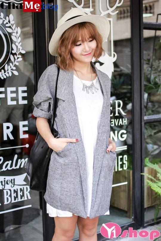 Áo khoác blazer trendy nữ dáng dài đẹp sành điệu đông 2021 - 2022