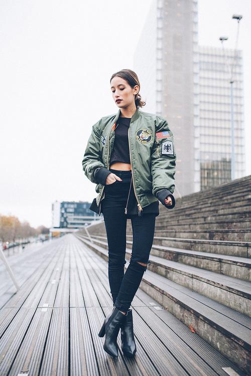 Áo khoác bomber nữ đẹp xu hướng thời trang mới nhất thu đông 2021 - 2022 phần 9