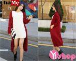 Áo khoác cardigan nữ dáng dài đẹp kiểu Hàn Quốc đông 2021 – 2022