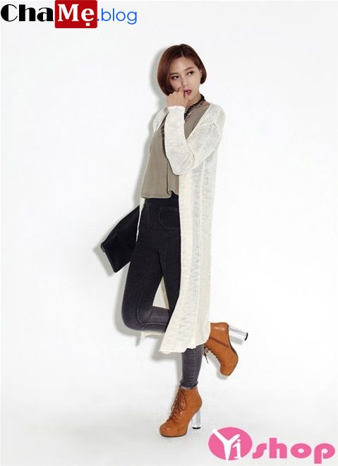 Áo khoác cardigan nữ dáng dài đẹp đông 2021 - 2022 năng động ấm áp