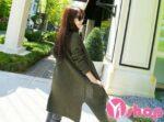 Áo khoác cardigan nữ dáng dài đẹp thời trang Hàn Quốc đông 2021 – 2022